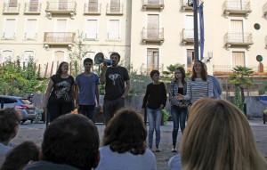 Rue de l'impro, par le Collectif d'Improvisation du Léman . Photo (c) Anitaa