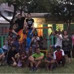 L'équipe du chantier solidaire sur site